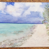 turks and caicos in watercolour